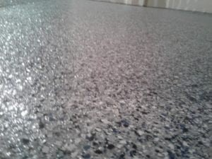 epoxy floor coating application to residential