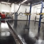 Epoxy floor coating for commercial for Ed Carroll here in Fort Collins